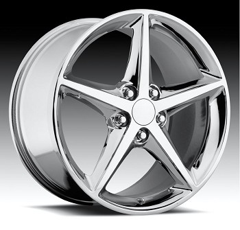 Corvette C6 05-13 2011 Style Chrome Wheel Set 18x8.5/19x10