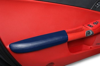 C6 Corvette Leather Armrests - Solid Colors