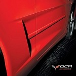 Corvette C6 Speed Line Side Molding In Factory Colors - Pair