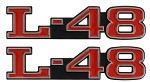 C3 Corvette 1968-1982 Hood Emblems  L-48 & L-82 Options