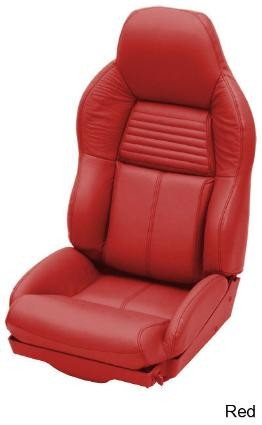 Corvette C4 84-96 Leather Seat Cover Replacements Solid Color