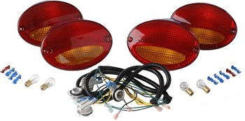 C5 Corvette European Taillight Conversion Kit Red/Amber