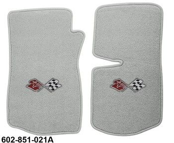 1968-82 C3 Corvette Mats with Embroidered Emblems