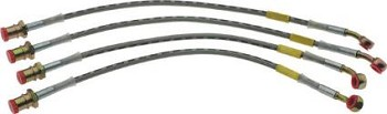 1984-1996 C4 Corvette Stainless Steel Braided Brake Caliper Hose Kits
