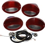 C5 Corvette European Taillight Conversion Kit Red/Clear