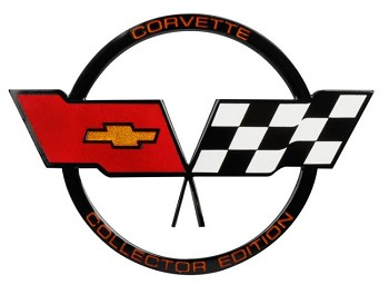 1982 C3 Corvette Collector Edition Crossed Flags Nose Emblem, Reproduction