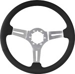 1963-1982 Corvette C3 Black Leather Steering Wheel