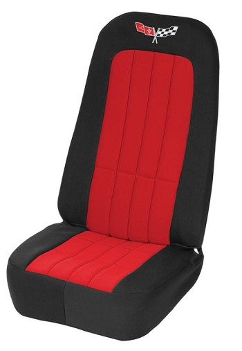 Neoprene C3 Corvette Seat Covers WITH LOGOS