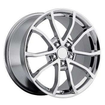 2013 CORVETTE 427 CENTENNIAL SPECIAL EDITION CUP STYLE WHEELS (SET) CHROME 18X9.5 / 19X10 2006-2013 C6
