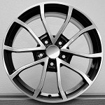 2013 Centennial Cup 427 C6 Corvette Black Machined Face Wheel Set 18x8.5 / 19x10