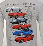 1953-2013 Nothing But Corvette T-Shirt, Featuring C1, C2, C3, C4, C5 & C6 Graphics