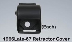C3 1966-Late 67 Seat Belt Retractor Cover- Each