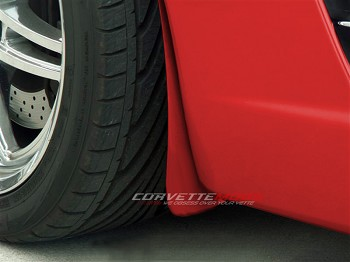 C6 Corvette 05-13 Custom Painted Flat Mud Guards Front 2Pc Z06 Style