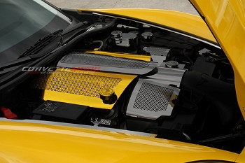 Corvette Custom Painted Perforated Fuel Rail Covers Replacement Style w/Cap 2008-2013 C6+GS