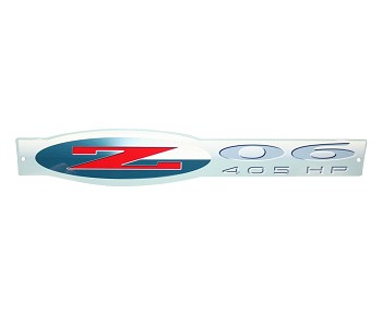 Corvette C5 Z06 405 EMBLEM METAL SIGN