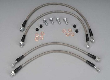 C6 Base / Z06 / Grand Sport 05-13 Corvette Stainless Steel Braided Brake Hoses