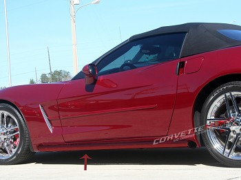 "C6 Corvette 2005-2013 Custom Painted Side Pipes ""Lake Pipes"" Show Exhaust"