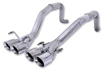 Corvette C6 Exhaust Billy Boat Bullet System Quad Tip LS2 LS3
