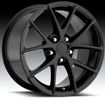 Corvette C5/C4 97-04 84-96 Fitments Gloss Black Spyder Z06 Style Wheels Set Of Four 18x8.5/19x10