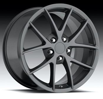 Corvette C6 05-13 Z06 Spyder Competition Grey Wheel Set 18x9.5/19x12