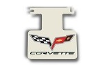 Corvette C6  Logo & Lettering Polished Exhaust Enhancer Plate-Not For NPP Exhaust