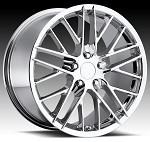 Corvette C5/C4 97-04 84-96 Fitments ZR1 Style Corvette Wheels Set Chrome 17x8.5/18x9.5""