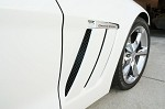 Corvette C6 Side Vent Screens Black Powder Coat Grand Sport 6 pc Kit