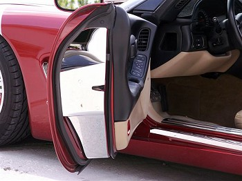 Corvette C5 97-04  Polished Door Jamb Covers