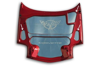 Corvette C5 97-04 3 Piece Hood Accent Kit