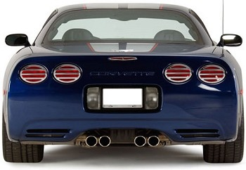 C5 97-04 Corvette Chrome Taillight Louvers