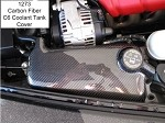 C6 Corvette Carbon Fiber Coolant Tank Cover