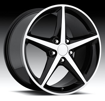 Corvette C6 05-13 2011 Styled Machined Face Wheel Set 18x8.5/19x10