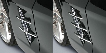 Corvette C6 Side Blades Billet Chrome