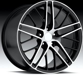 Corvette C5/C4 97-04 84-96 Fitments C6 ZR1 Style Wheels Black/Machined Face Set Of 4 18x8.5/19x10
