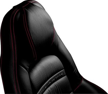 C5 97-04 Corvette Headrest Pads - ACCENT STITCHING