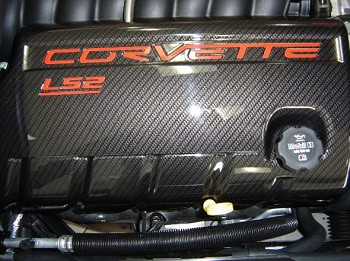C6 Corvette 2005-2013 LS2 LS3 LS7 Hydrocarbon Carbon Fiber Fuel Rail Covers