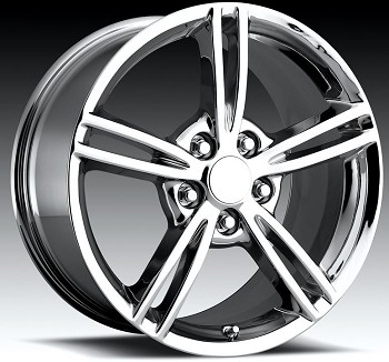 Corvette C5 97-04 C6 Style Split Spoke Wheel Set Chrome 17x8.5/18x9.5