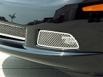 C6 Corvette Laser Cut Driving Light Grilles Pair