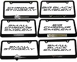 C7 Corvette Stingray 2014+ Carbon Fiber License Plate Frames With Emblems
