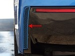 C7 Corvette Stingray 2014+ Custom Painted Rear Valance Vent Grilles - Pair