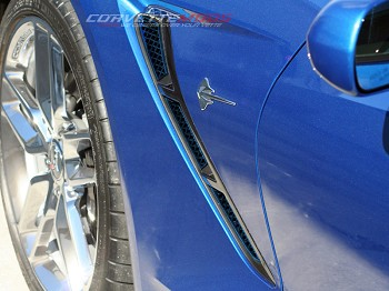 C7 Corvette Stingray 2014+ Custom Painted Side Vent Mesh Grille Overlay 6 pcs