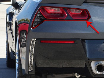 C7 Corvette Stingray 2014+ Custom Painted Taillight Trim Ring - Pair