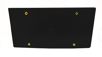 C7 Corvette Stingray 2014+ Drill Free Removable License Plate Holder - Hydrocarbon Carbon Fiber