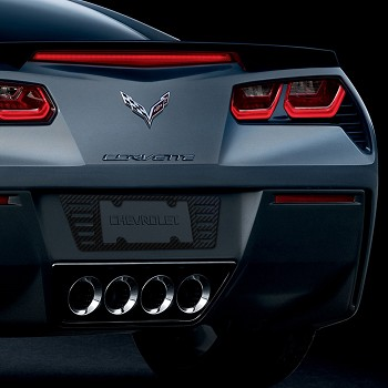 C7 Corvette Stingray 2014+ Hydrocarbon Carbon Fiber Billet License Plate Frame