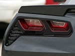 C7 Corvette Stingray/Z06 2014+ Hydrocarbon Carbon Fiber Taillight Trim Kit
