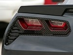 C7 Corvette Stingray 2014+ Hydrocarbon Carbon Fiber Taillight Trim Kit