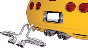 Corvette C5 97-04 QuadraPower Cat Back Exhaust & X Pipe Combo