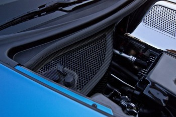C6 Corvette 2005-2013 Z06 / Grand Sport Hydrocarbon Carbon Fiber Dry Sump Oil Tank Cover - Perforated