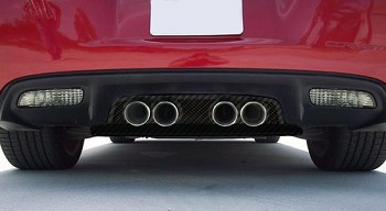 C6 Corvette 2005-2013 Hydrocarbon Carbon Fiber Exhaust Filler Panels - All Exhaust Types