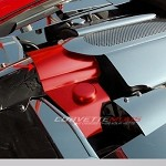 C6 05-13 Corvette Custom Painted Stainless Steel Throttle Body Cover